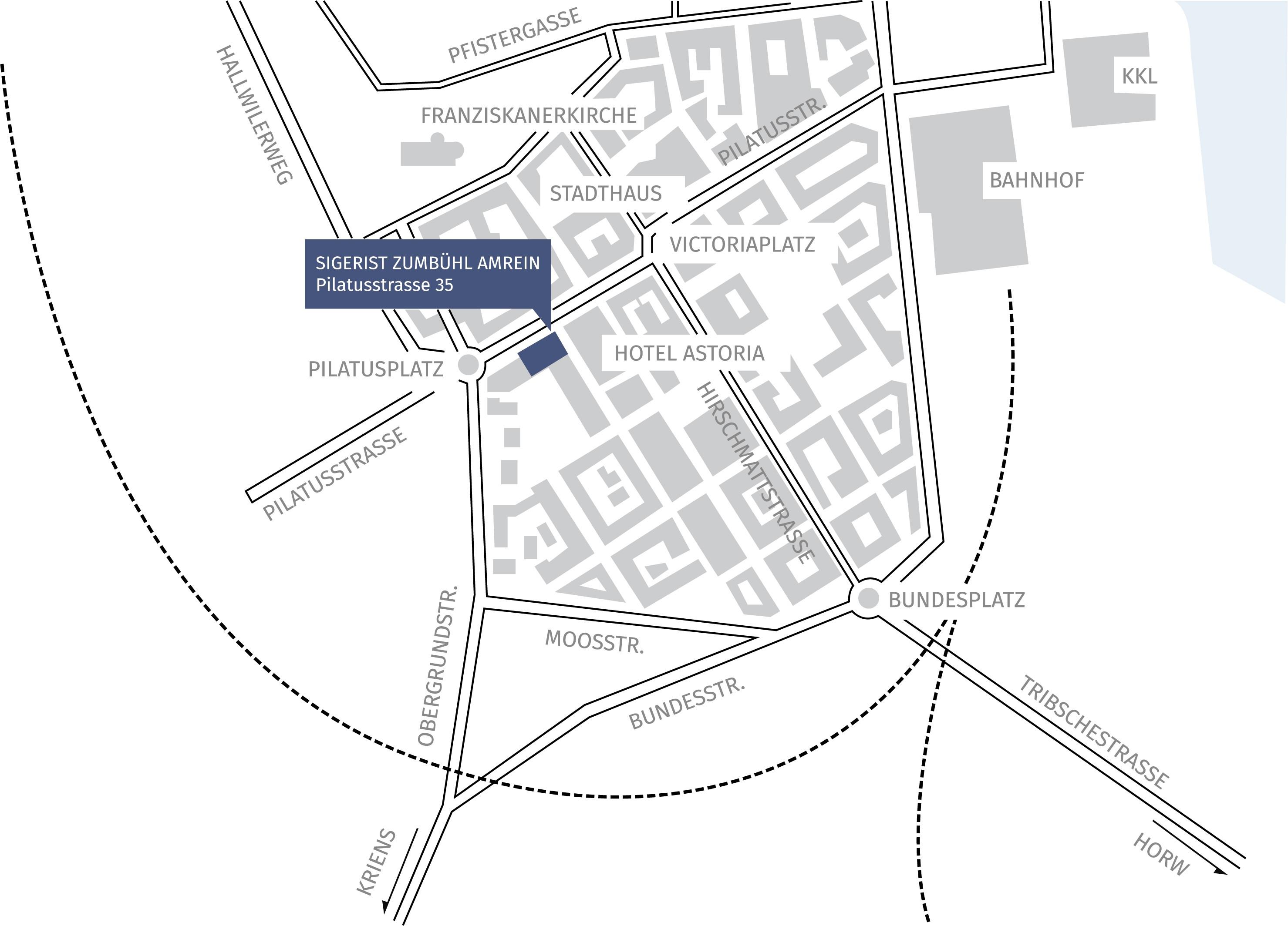 Karte von SIGRIST ZUMBÜHL AMREIN